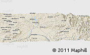 Shaded Relief Panoramic Map of Gheniseba