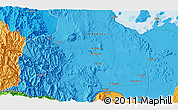 """Political 3D Map of the area around 14°46'42""""N,40°1'29""""E"""