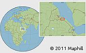 "Savanna Style Location Map of the area around 14°46'42""N,40°1'29""E"