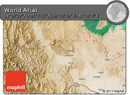"Satellite Map of the Area around 14°46'42""N,40°1'29""E"