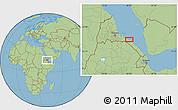 "Savanna Style Location Map of the area around 14°46'42""N,40°52'30""E"