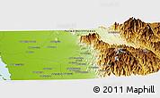 Physical Panoramic Map of Bi'r az Zāwiyah