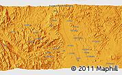 Political 3D Map of Dhamār