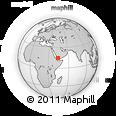 Outline Map of Dhamār, rectangular outline