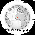 Outline Map of Sevare, rectangular outline