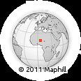 Outline Map of Keïta, rectangular outline