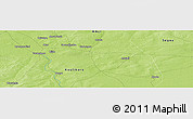 "Physical Panoramic Map of the area around 14° 46' 42"" N, 6° 43' 29"" W"