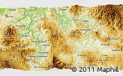 """Physical 3D Map of the area around 14°46'42""""N,87°28'29""""W"""