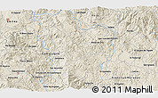 """Shaded Relief 3D Map of the area around 14°46'42""""N,87°28'29""""W"""