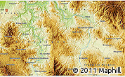 """Physical Map of the area around 14°46'42""""N,87°28'29""""W"""