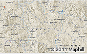 """Shaded Relief Map of the area around 14°46'42""""N,87°28'29""""W"""
