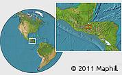 Satellite Location Map of Zacapa