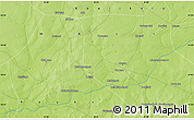 """Physical Map of the area around 14°46'42""""N,8°25'30""""W"""
