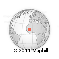 """Outline Map of the Area around 14° 46' 42"""" N, 8° 25' 30"""" W, rectangular outline"""