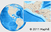 """Shaded Relief Location Map of the area around 14°46'42""""N,90°1'30""""W"""