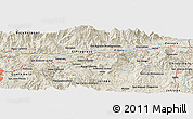 """Shaded Relief Panoramic Map of the area around 14°46'42""""N,90°1'30""""W"""
