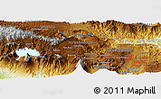 Physical Panoramic Map of El Peñasco