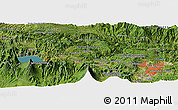 Satellite Panoramic Map of El Apazote