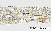 Shaded Relief Panoramic Map of El Apazote