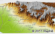 """Physical 3D Map of the area around 14°46'42""""N,91°43'29""""W"""