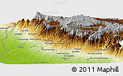 """Physical Panoramic Map of the area around 14°46'42""""N,91°43'29""""W"""