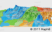"""Political Panoramic Map of the area around 14°46'42""""N,91°43'29""""W"""