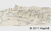 """Shaded Relief Panoramic Map of the area around 14°46'42""""N,91°43'29""""W"""