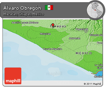 Obregon Mexico Map.Free Political Panoramic Map Of Alvaro Obregon