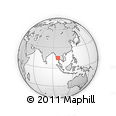 Outline Map of Kaleinaung Post Office,14023,ကလိန်အောင် စာတိုက်, rectangular outline