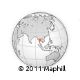 Outline Map of Suphan Buri, rectangular outline