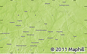 """Physical Map of the area around 14°46'42""""N,9°16'30""""W"""