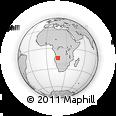 Outline Map of Cataca, rectangular outline