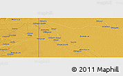 """Physical Panoramic Map of the area around 14°26'6""""S,22°10'29""""E"""