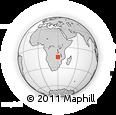 Outline Map of Mkopa, rectangular outline