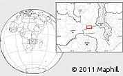Blank Location Map of Petauke