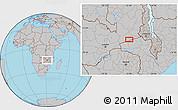 Gray Location Map of Petauke