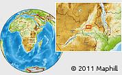 Physical Location Map of Petauke
