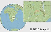 Savanna Style Location Map of Petauke