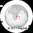 Outline Map of Petauke, rectangular outline