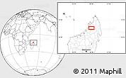 Blank Location Map of Bealanana