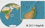 Satellite Location Map of Bealanana