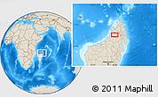 Shaded Relief Location Map of Bealanana