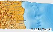 Political 3D Map of Sambava