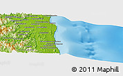 """Physical Panoramic Map of the area around 14°26'6""""S,50°13'30""""E"""