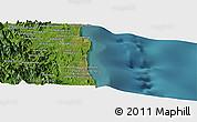 Satellite Panoramic Map of Sambava