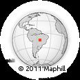 Outline Map of Brazil, rectangular outline