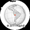Outline Map of Ñuñoa, rectangular outline