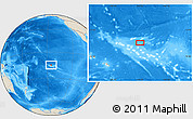 Shaded Relief Location Map of Fakatopatere