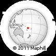 Outline Map of Maewo, rectangular outline