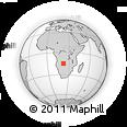 Outline Map of Kalabo, rectangular outline